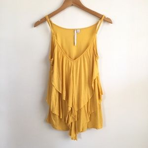 LC Lauren Conrad Yellow Tank Top Size XS